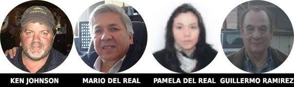 Mugshots of Those Involved With Galts Gulch Chile - Ken Johnson - Mario Del Real - Pamela Del Real - Guillermo Ramirez