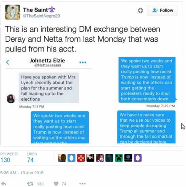 The Saint Twitter post on Black Lives Matter Leak - The Dollar Vigilante